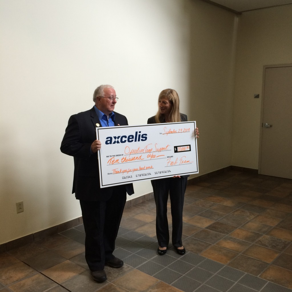 Sept. 29th Axcelis Technologies Donation
